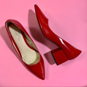 Zara Red Patent Pointed-toe Shoes